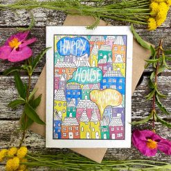 happy house warming plantable card