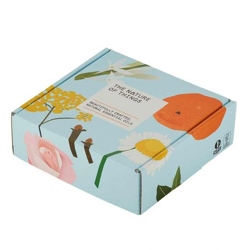 organic oils gift set packaging