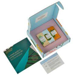 organic oils gift set in cardboard box