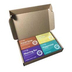 travel selection soap in cardboard box
