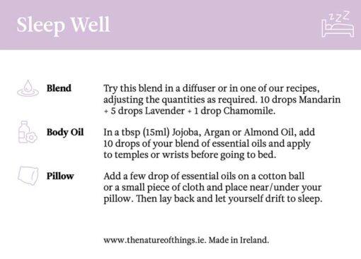 sleep well gift set instructions