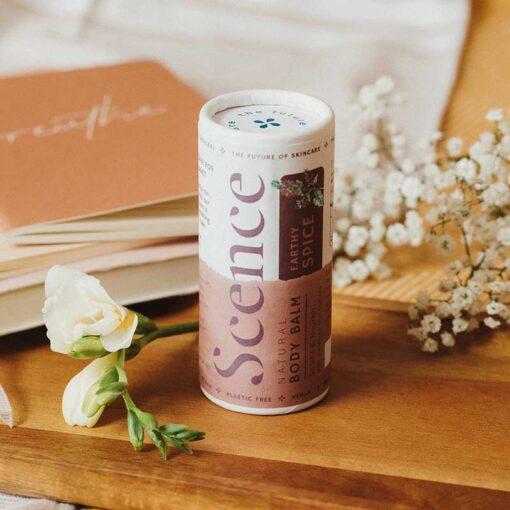 body moisturiser stick in earthy spice scent