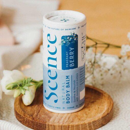 body moisturiser stick in fragrant berry scent