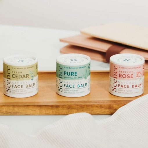 face balm in 3 different scents