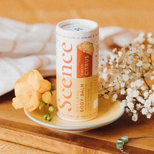 body moisturiser stick in sweet citrus scent