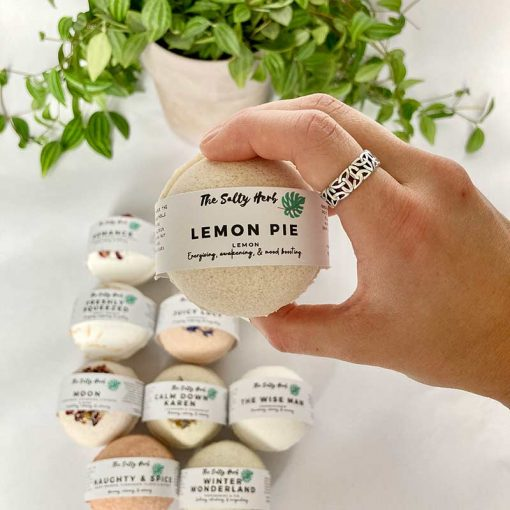 lemon pie clay bath bomb