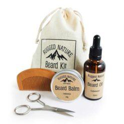 natural beard kit for him