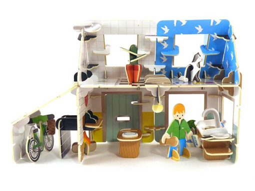 eco house playset with kitchen