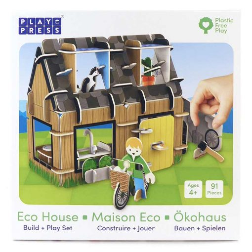 eco house play set incardboard box