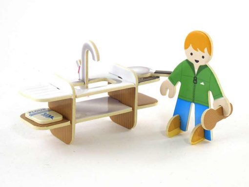 man and kitchen plastic free toys