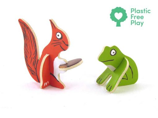 squirrel and frog gruffalo playset