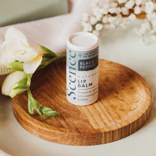 plastic free lip balm flavoured with black pepper