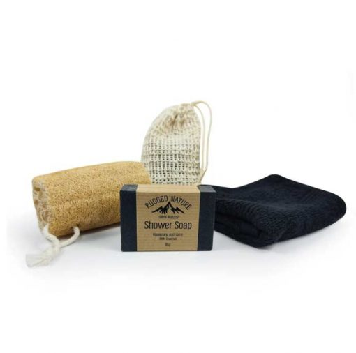mens shower kit with natural soap
