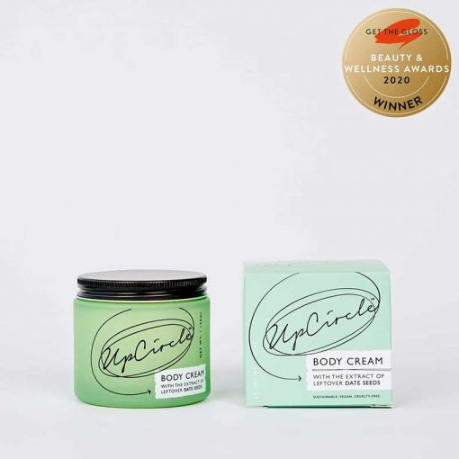 soothing body cream in glass jar