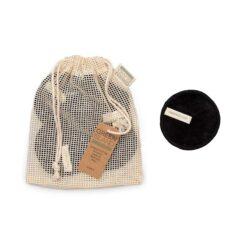 reusable facial wipes in mesh bag
