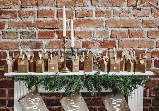 sustainable christmas ideas with advent calenders