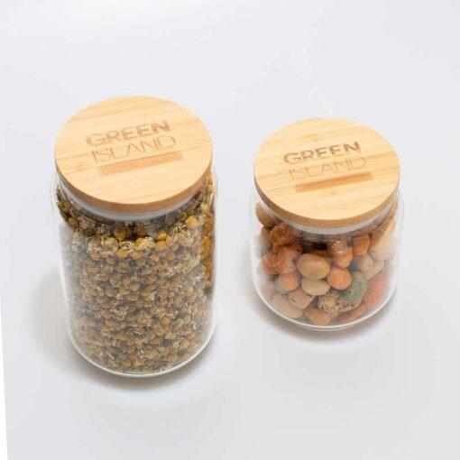 2 glass pantry jars