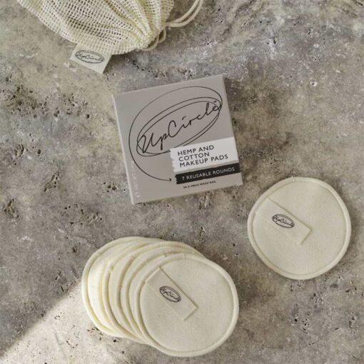 reusable makeup pads on worktop