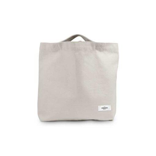 organic tote bag in stone