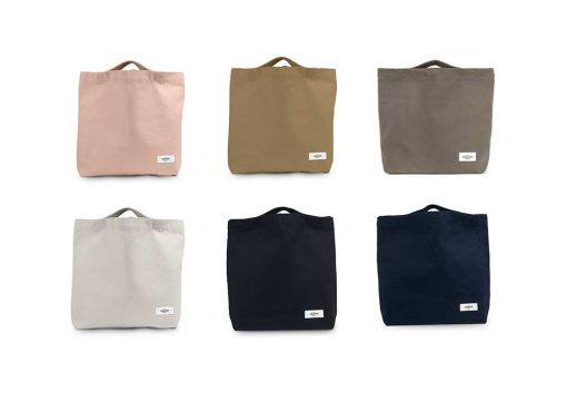 my organic bag in 6 different colours
