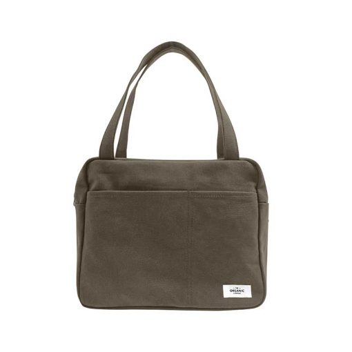 organic cotton everyday bag with handles in clay