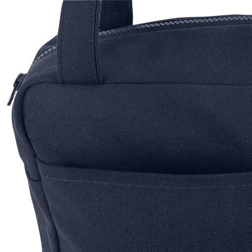 organic cotton laptop bag in dark blue
