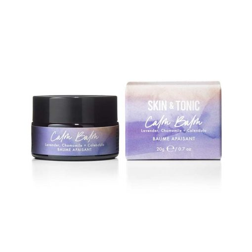 calm balm next to packaging