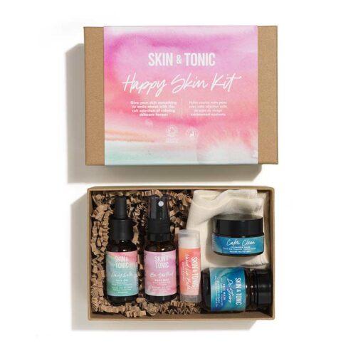 the happy skin kit in cardboard gift box