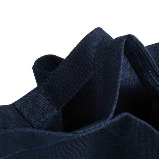 organic tote bag handles close up