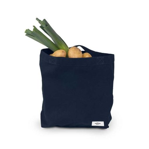 organic shopping bag with food inside