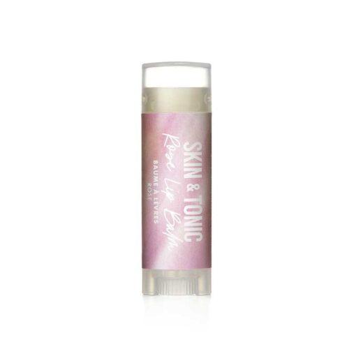 organic lip balm in rose