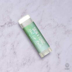 organic mint lip balm on work top