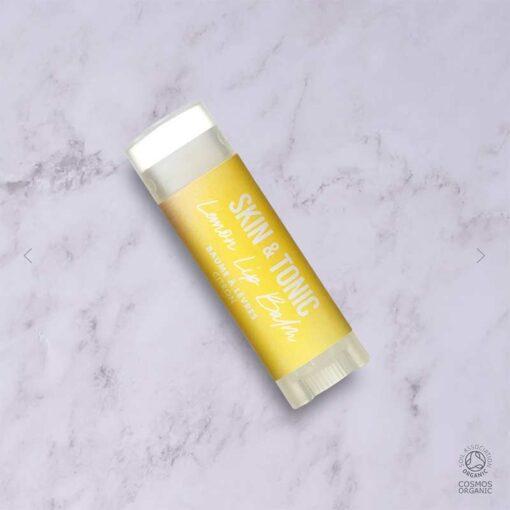 lemon lip balm on work top