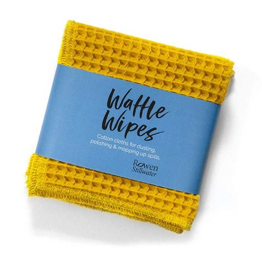 yellow waffle wipes cleaning cloths