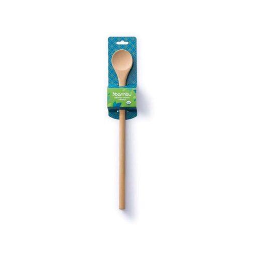 bamboo tasting spoon in packaging