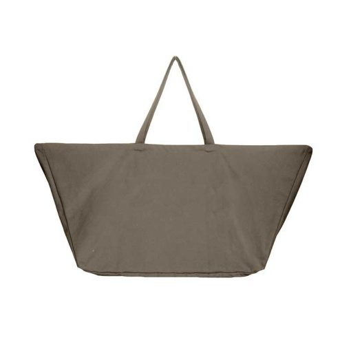 extra large cotton bag in clay colour