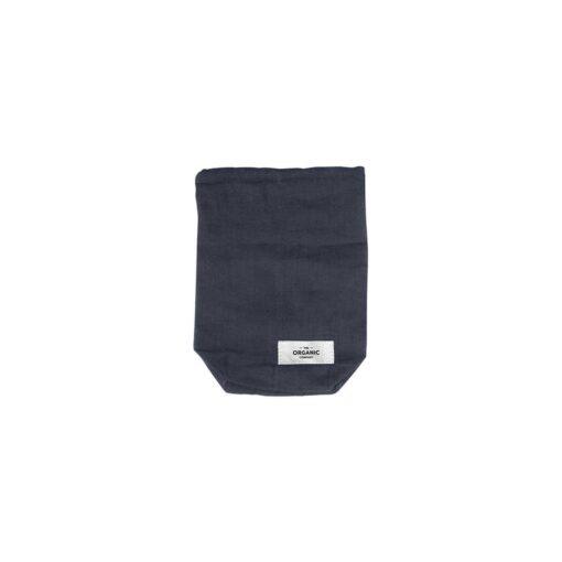 small drawstring bag in black