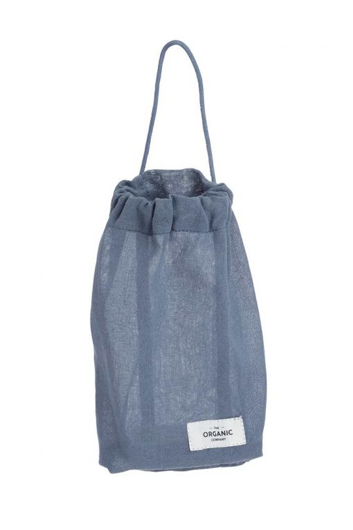small drawstring bag with pull string