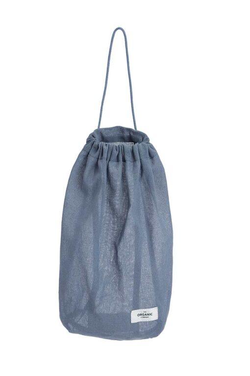 grey blue medium all purpose bag with pull string