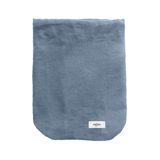 large reusable cotton bag in blue
