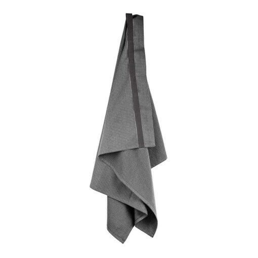organic wellness towel hanging up