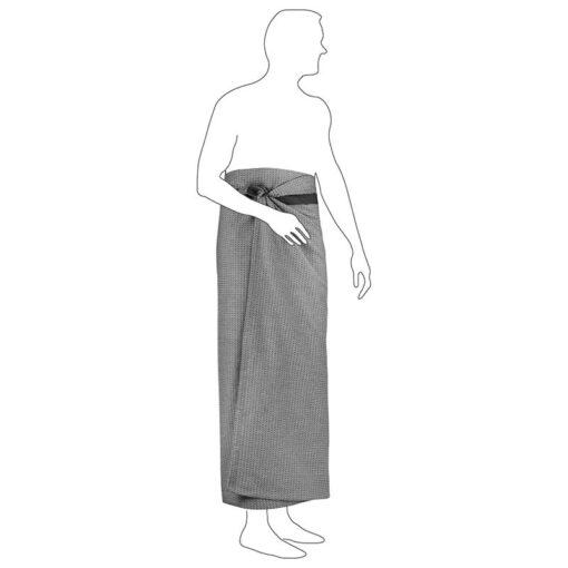 organic wellness towel around a mans waist