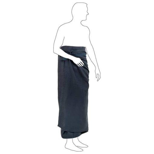 man wearing an organic cotton wellness towel
