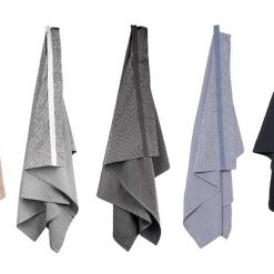 large wellness towels hanging up