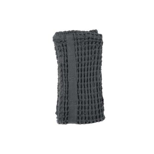 organic cotton hand towel in grey