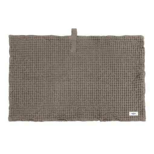 waffle bath mat in clay colour