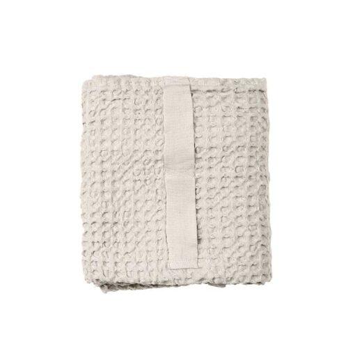 folded waffle hand towel