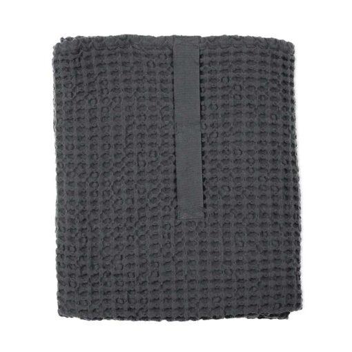 waffle weave towel folded up