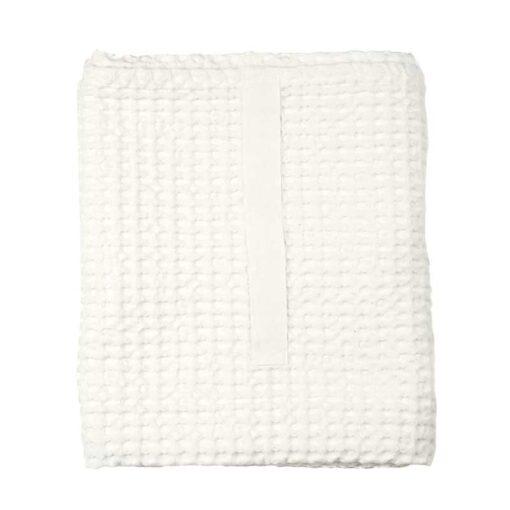 white waffle towel folded up