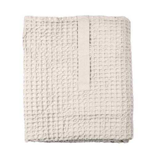 large waffle bath towel folded